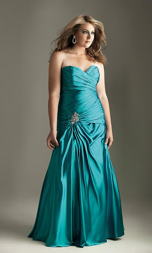 b429b4f0fe ... 10 vestidos de fiesta para gorditas azul turquesa (2) ...