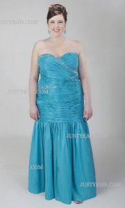 10 vestidos de fiesta para gorditas azul turquesa (3)