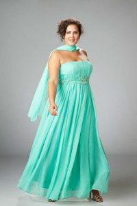 10 vestidos de fiesta para gorditas azul turquesa (4)