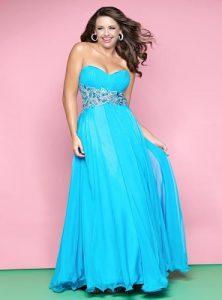10 vestidos de fiesta para gorditas azul turquesa (7)