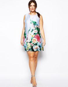 10 vestidos de fiesta para gorditas con flores (10)